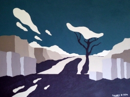 Art Show at Municipal Library, Nelson BC - August 2014